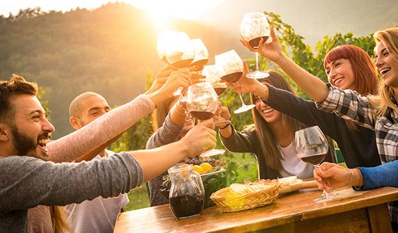 Celebração com Vinho